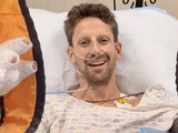 Grosjean credits Halo in hospital bed video