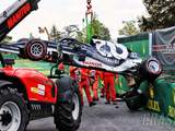 Tsunoda's gearbox broke in half during F1 qualifying crash
