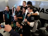 Hamilton 'speechless' amid Mercedes F1 celebrations