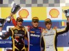 Ericsson wins hectic feature race