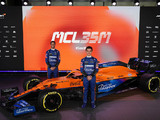 No Mercedes branding on McLaren's MCL35M