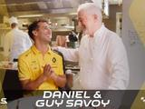 Watch: Daniel Ricciardo tries French cuisine with Guy Savoy
