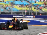 Ricciardo Leads Red Bull 1-2 in Singapore Practice; Leclerc Crashes