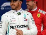 Hamilton on pole, Vettel third