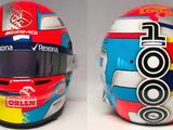 Russell unveils Montoya-inspired helmet design for China