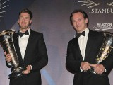 Vettel and Red Bull receive championship trophies