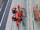 Russell fastest, Leclerc crashes out of testing
