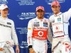Hamilton heads second all-McLaren front row