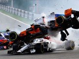 Fernando Alonso involved in scary Turn 1 crash at Belgian Grand Prix