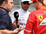 Lewis rejects Seb handshake for TV