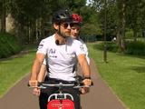 Button takes to a tandem to talk Silverstone