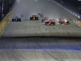Singapore GP F1 start crash to be investigated after the race
