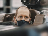 Our first sight of Vettel in an Aston Martin F1 car