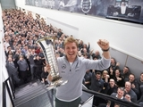 Rosberg visits Mercedes factory in Brackley