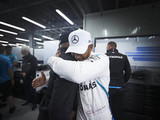 Hamilton stopped off to comfort Bottas