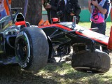Magnussen takes blame for FP2 shunt