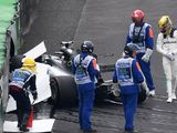 Valtteri Bottas takes pole in Brazil after Lewis Hamilton crashes out