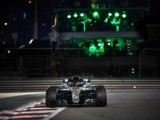 Hamilton heads Mercedes front row lock-out at Yas Marina