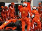 Ferrari mechanic injured in pit-stop