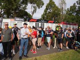 Fans gather, but are banned from Australian GP