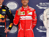 Vettel beats Max and Lewis to pole