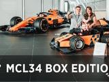 Watch: Logan and the MCL34 box