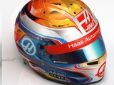 Grosjean unveils new helmet design