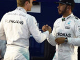 Lewis jubilant after pole lap
