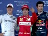 Alonso takes pole in rain delayed qualifying