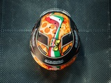 Norris unveils 'pizza' helmet design for Italian GP