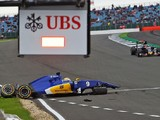 Sore Marcus Ericsson feels 'lucky' to escape Silverstone F1 crash