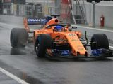 Alonso and McLaren 'fastest' on snowy third day of Barcelona test