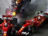 Hamilton wins as Vettel crashes