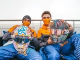 Norris and Sainz unveil self-designed helmets for World Mental Health Day