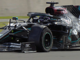 Hamilton hit '230km/h with only three wheels'