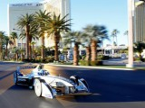 Formula E car completes Las Vegas Strip demo