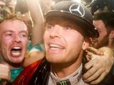 Nico Rosberg celebrates title success at F1 afterparty