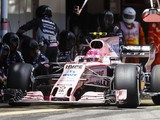 Force India Formula 1 team adjusts livery for cancer charity