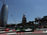 Azerbaijan GP red flagged amid Hamilton, Vettel clash