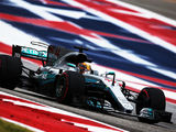 Hamilton tops damp first practice at Austin
