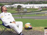 Ron: Alonso sunbathing was funny