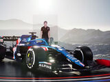 Alpine team takes wraps off of first ever F1 car