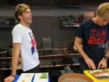 Watch: Gasly & Hartley Learn How To Make Sushi