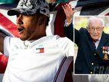 Captain Tom Moore tips 'young man' Lewis Hamilton for seventh F1 title