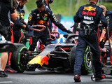 Verstappen recovers from pre-race crash to score second