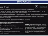 Mercedes advertises F1 driver vacancy