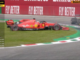 Vettel spins out of Italian GP contention again, wipes out Stroll