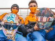 McLaren drivers reveal special crash helmet designs