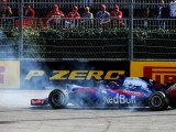 Overheating brakes led to double STR exit in Russian GP