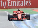 Hamilton forced to sit on the sidelines as Vettel smashes track record